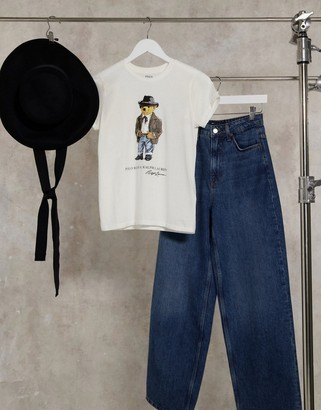 Polo Ralph Lauren short sleeve T-shirt with bear logo in white