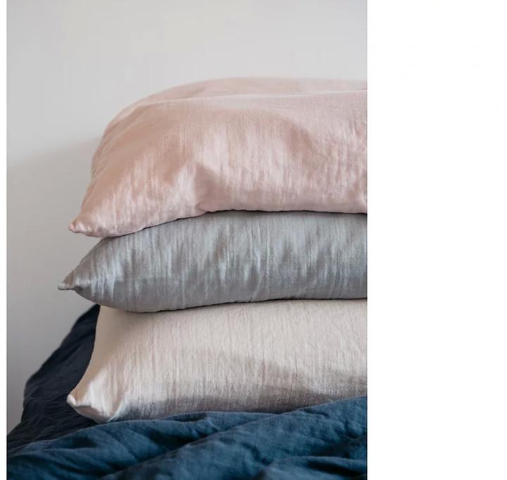 lab - Organic Cotton Gauze Pillow 50x70cm - organic cotton | grey - Grey/Grey