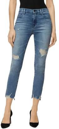 J Brand Alana High Rise Cropped Skinny Jeans in Fix Up Destruct