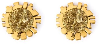 Jean Louis Scherrer Pre-Owned Disk Clip-On Earrings