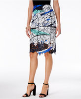 Bar III Printed Lace Skirt, Only at Macy's