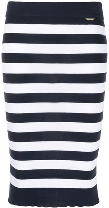 Liu Jo Striped Pencil Skirt