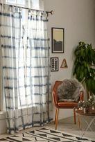Urban Outfitters Accordion Indigo Dye Curtain