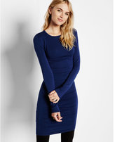 Express crew neck ruched sweater dress