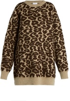 Raey Oversized leopard-jacquard mohair-blend sweater