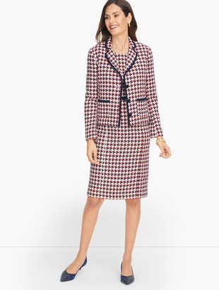 Talbots Luxe Woven Bold Houndstooth Jacket