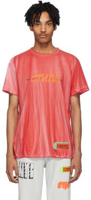 Heron Preston Red Tie-Dye Spray Style T-Shirt