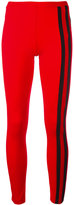 Y-3 Scarlet side stripe leggings - women - Cotton/Lyocell - XS