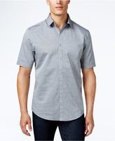 Alfani Men's Corded Stripe Short-Sleeve Shirt, Only at Macy's
