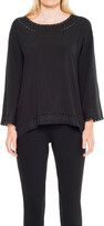 Max Studio Rayon Top With Embroidery Details