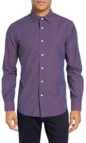 Slate & Stone Men's Slim Fit Star Print Sport Shirt