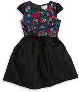 Us Angels Girls 7-16 Floral Embroidered Dress