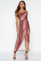 Nasty Gal Womens That Snakes Care Of That Midi Dress - Red - 8, Red