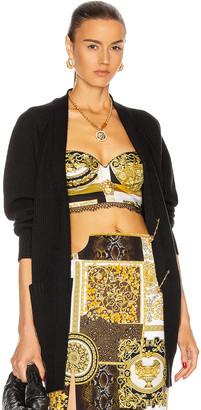 Versace Safety Pin Cardigan in Nero | FWRD