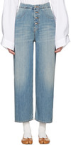 MM6 MAISON MARGIELA Blue Carryover Wide-leg Crop Jeans