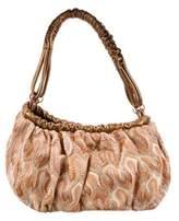 Missoni Leather-Trimmed Knit Handle Bag