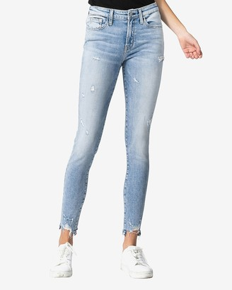 Express Flying Monkey Mid Rise Distressed Skinny Jeans