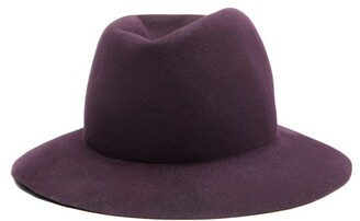 Albertus Swanepoel Dip-dye Felt Fedora Hat - Mens - Purple