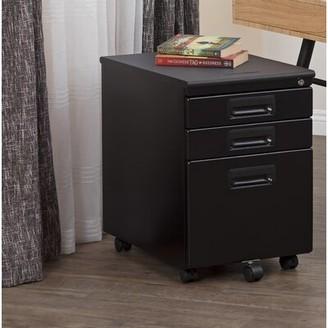 Calico Designs Metal Rolling 3-Drawer Mobile Vertical Filing Cabinet Color: Black