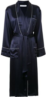 Goodious Long Contrast Piping Robe