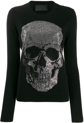 Philipp Plein Skull Embellished Sweater