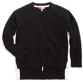 Aqua Girls' High Low Cashmere Pullover Sweater - Sizes S-XL