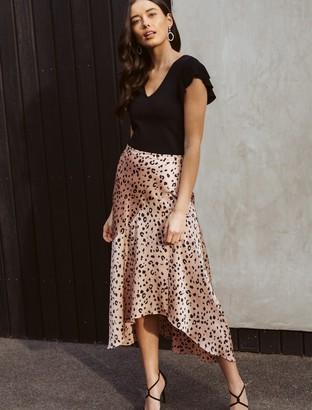 Ever New Andrea Asymmetric Split Skirt