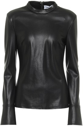 Stand Studio Freya faux leather top