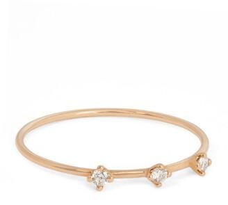 VANRYCKE Rose Gold and Diamond Stardust Ring (Size 52)