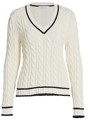 Max Mara Belgica Cashmere-Blend Cable Knit Sweater