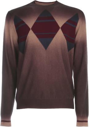 Ballantyne Shaded Sweater Crew Neck W/rombhus