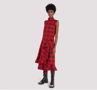 Mulberry Pollie Dress Scarlet Tartan Canvas