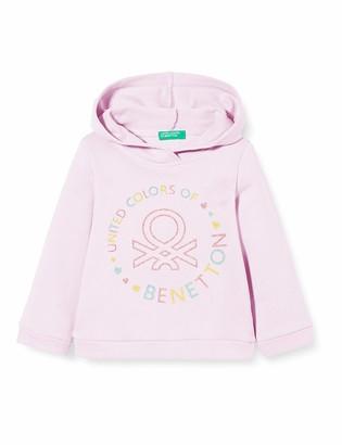 Benetton Baby Girls' Felpa Sports Hoodie