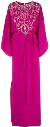 Marchesa x Ramadan embellished bib dress