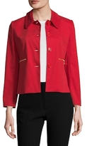 Love Moschino Cotton Point Collar Cropped Jacket