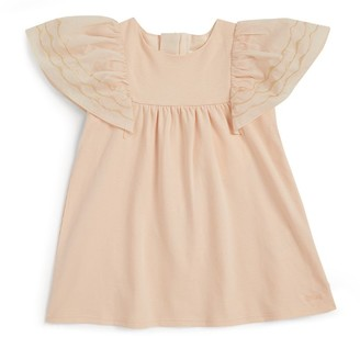 Chloé Kids Metallic Embroidered Dress