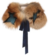 Roksanda Cimino Star-printed Fox Fur Collar