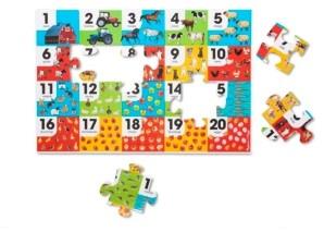 Melissa & Doug 24-Piece Farm Number Floor Puzzle