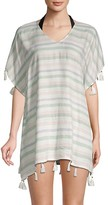 Thumbnail for your product : Surf.Gypsy Tasseled Striped Coverup