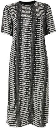 Armani Exchange Logo Print T-Shirt Dress