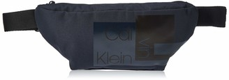 Calvin Klein Men's Layered Waistbag Shoulder Bag Blue (Navy) 0.1x0.1x0.1 cm (W x H x L)
