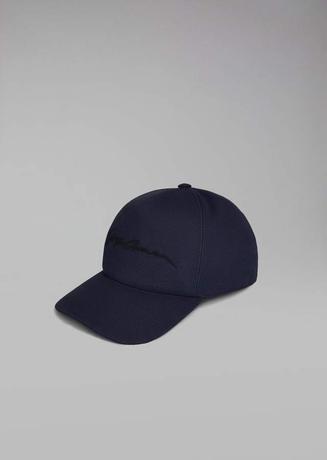 Giorgio Armani Cap With Embroidered Logo
