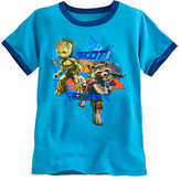Disney Groot and Rocket Raccoon Ringer Tee for Boys - Guardians of the Galaxy Vol. 2