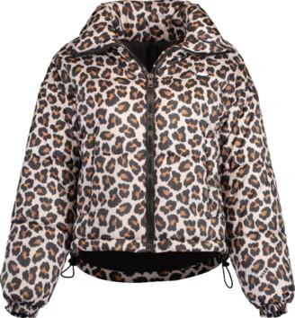 MSGM Giubbino Leopard Puffer Jacket