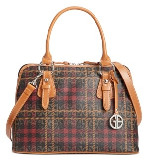 Giani Bernini Plaid Bock Signature Dome Satchel, Created for Macy's