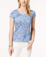 Style&Co. Style & Co Petite Cotton Printed Top, Created for Macy's