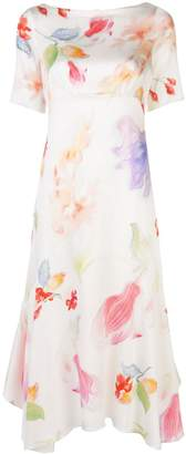 Peter Pilotto floral-print fluted dress