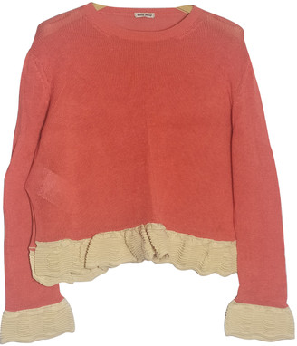 Miu Miu Orange Cotton Knitwear