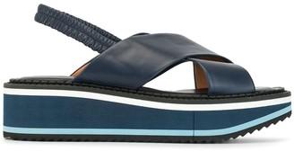 Clergerie Freedom platform slingback sandals