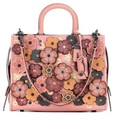 Coach Rogue floral leather tote